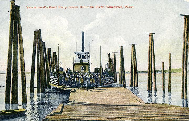 Vancouver-Portland Ferry across Columbia River