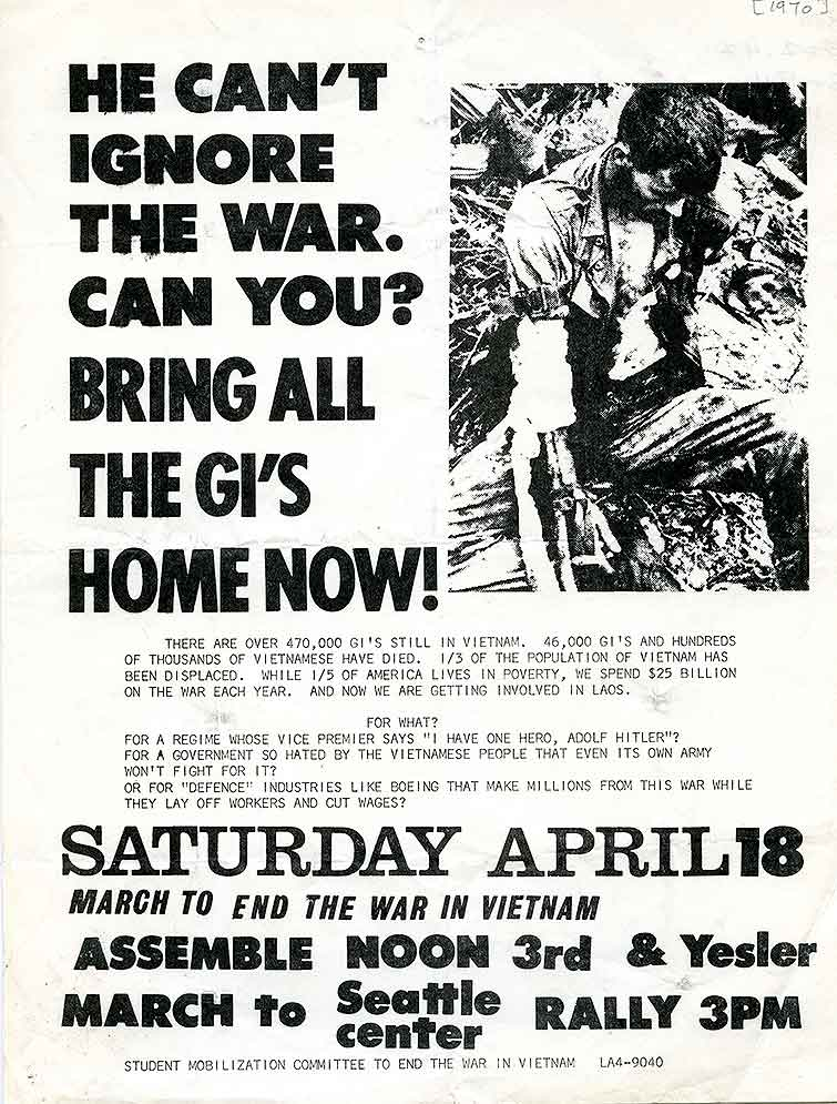 He can't ignore the war.  Can you? : bring all the GI's home now!