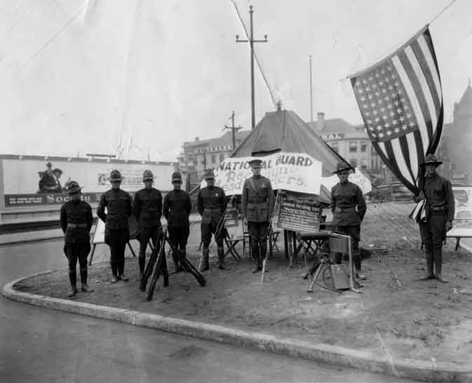 [National Guard recruiting team, Spokane, ca. 1917]