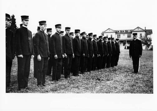 [cadets at Cushman Indian School]