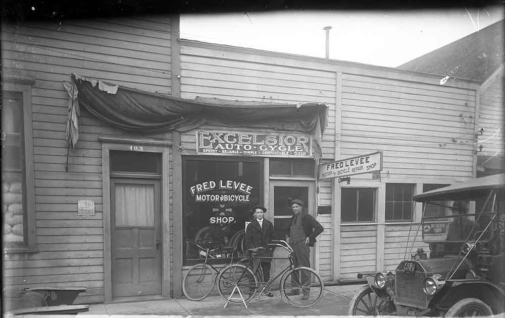 [Fred Levee Motor & Bicycle Shop]