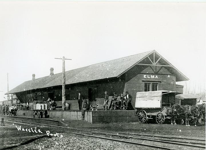 [Northern Pacific Railway depot, Elma, WA]