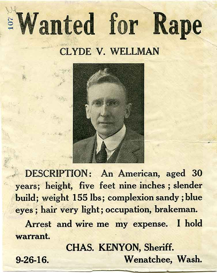 Wanted for rape : Clyde V. Wellman