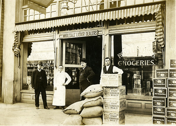 [Rosellini Bros., 1523 South C Street, Tacoma, Grocers and Wholesale Liquor]