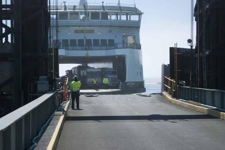Washington State ferry Chetzemoka Arriving at Dock