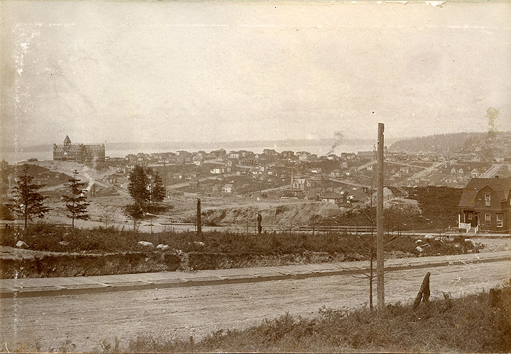Looking West from 13th St & University St, Seattle Washington 1892