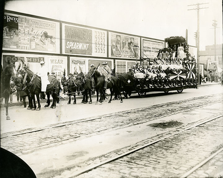[Swiss Float in July 4, 1913 Parade, Tacoma]
