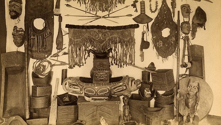 Indian Curios, Alaska, U.S., 1887