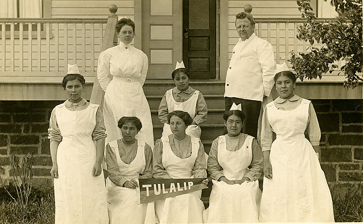 [Tulalip Student Nurses and Dr. Charles M. Buchanan]