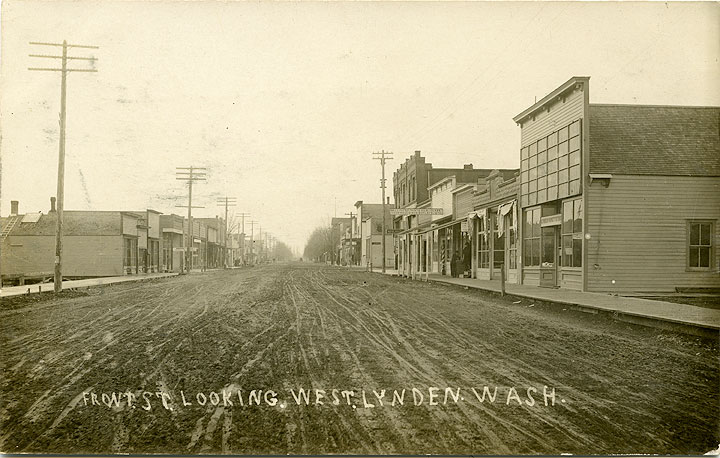 Front St. Looking West. Lynden, Wash.