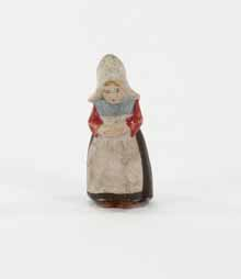 [toy human figure used in a Moravian Christmas putz]