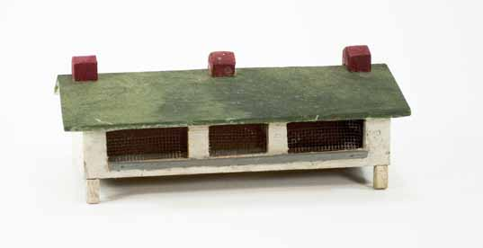 [Miniature building for a Moravian Christmas putz]