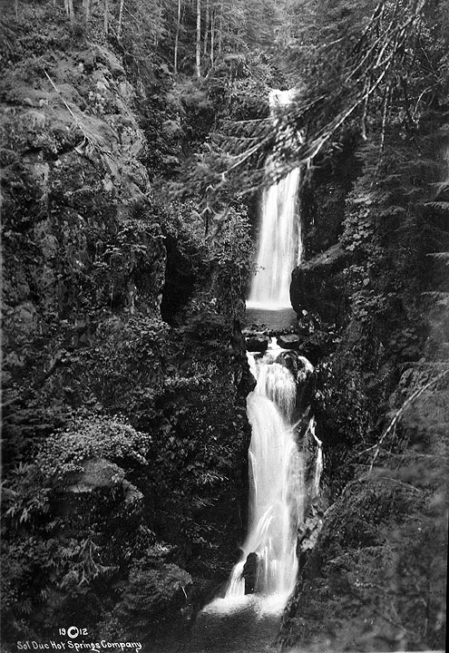 Twin Falls, Sol Duc Hot Springs, 1912