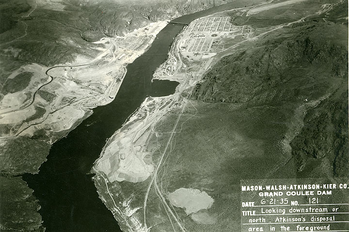 Grand Coulee Dam Construction Atkinson's disposal area