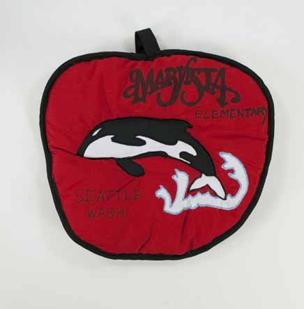 [potholder advertising Marvista Elementary in Seattle, Wash.]