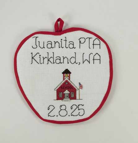 [potholder advertising Juanita PTA in Kirkland, WA 2.8.25]