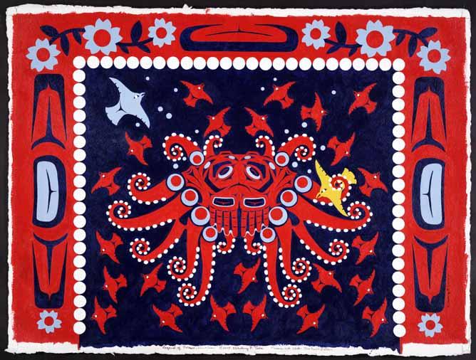 Legend of Octopus Woman & Crow
