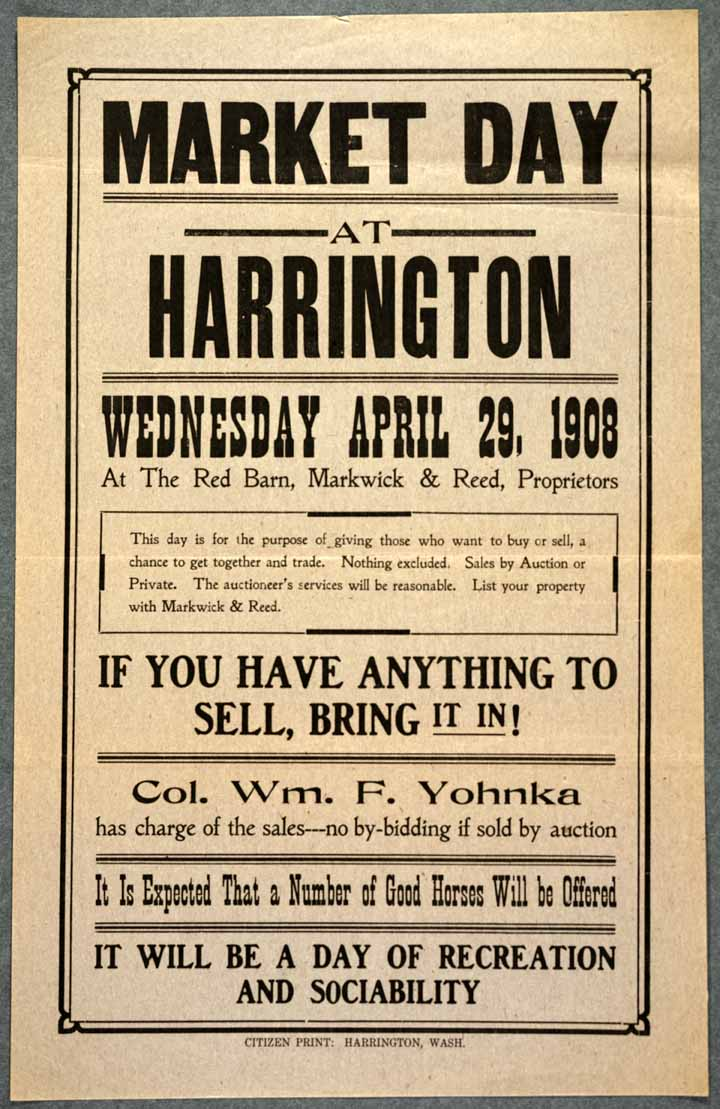 Market Day at Harrington, Wednesday April 29, 1908