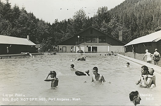 Large Pool, Sol Duc Hot Springs, Port Angeles, Wash