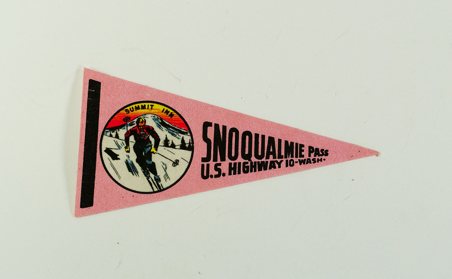 [pennant supporting Summit Inn, Snoqualmie Pass Highway, WA]