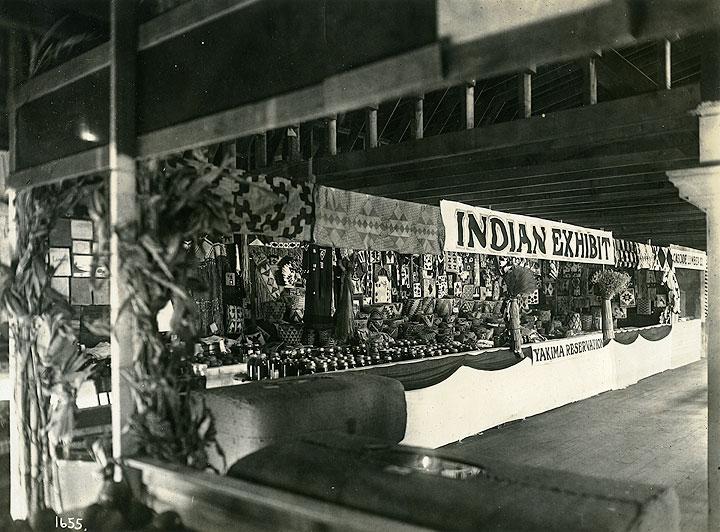 [Indian Exhibit, Yakima Reservation, Washington State Fair, North Yakima, WA, 1916]