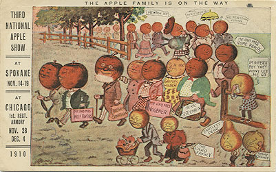 The Apple family is on the way, Third National Apple Show at Spokane, Nov. 14-19, at Chicago 1st Reg't Armory, Nov. 28-Dec. 4, 1910