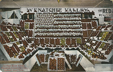 Wenatchee Valley, 1st prize booth exhibit, Wenatchee Commercial Club, National Apple Show [Spokane]