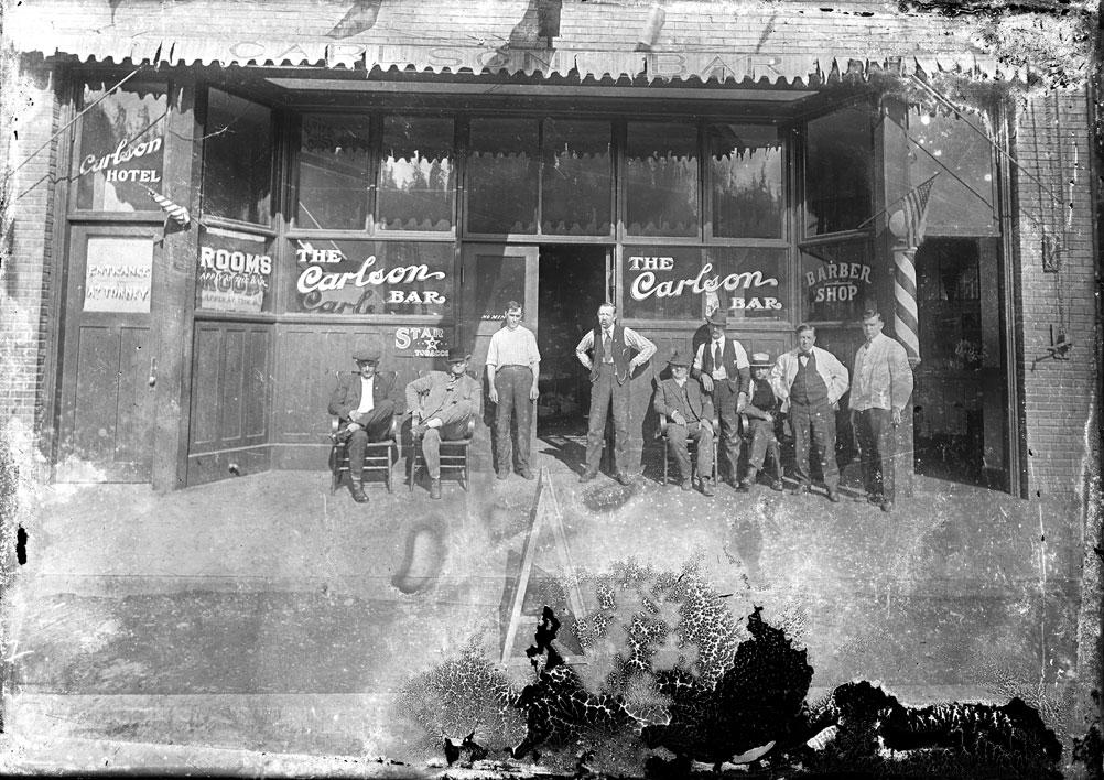 [Carlson Hotel, Bar, and Barbershop, Wilkeson, WA]