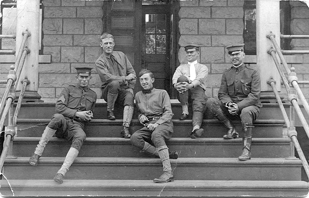 [Soldiers relaxing, Vancouver Barracks]