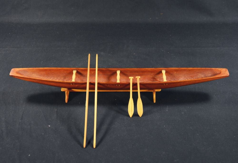 [model canoe with accessories]