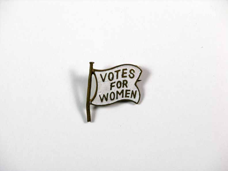 [woman's suffrage pin]