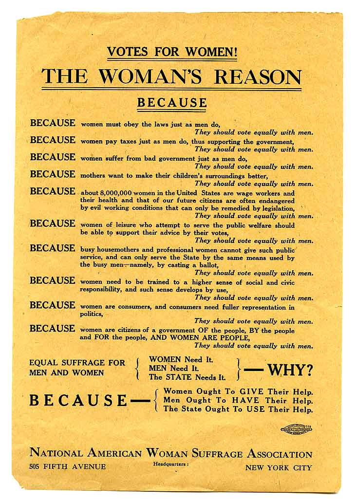 Votes for women! the woman's reason