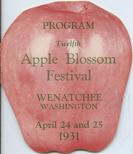 Program, twelfth Apple Blossom Festival, Wenatchee, Washington