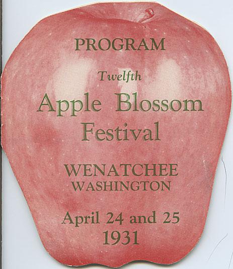 Program, twelfth Apple Blossom Festival, Wenatchee, Washington