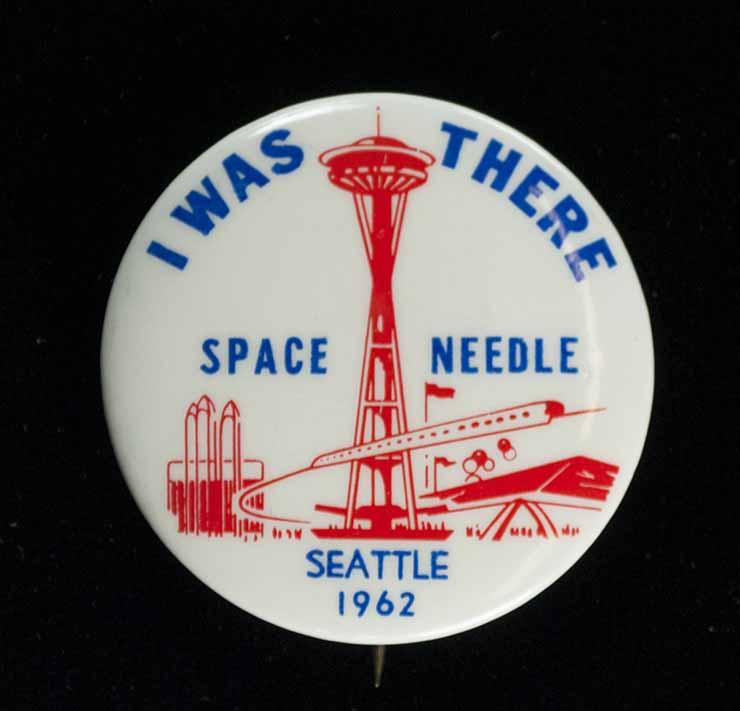 [souvenir pin for Seattle World's Fair/Century  21 Exposition]